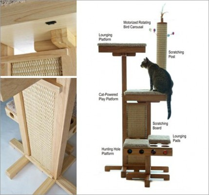 tutoriel pour construire un arbre chat 3 tapes. Black Bedroom Furniture Sets. Home Design Ideas
